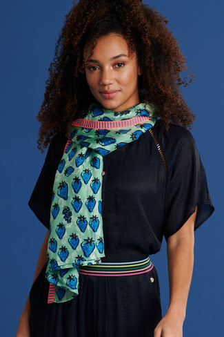 SHAWL - Very Strawberry Blue