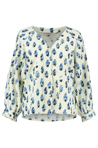 BLOUSE - Blueberries and Cream