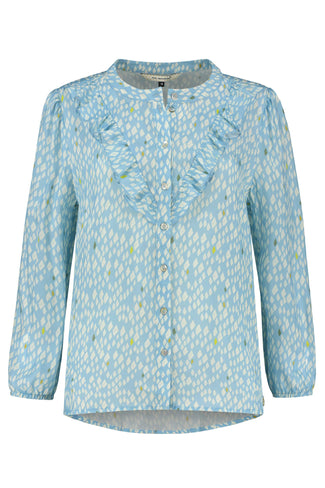 BLOUSE - Snake Scales Blue