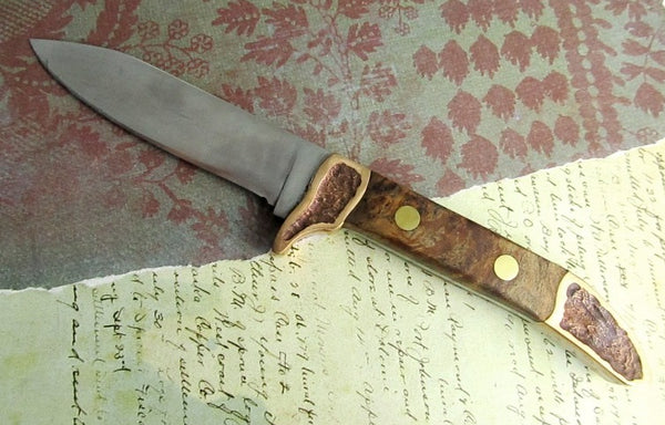 custom knife handmade cast bronz