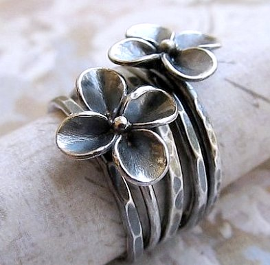 cast flowers Handmade by jewelry designer James Christian