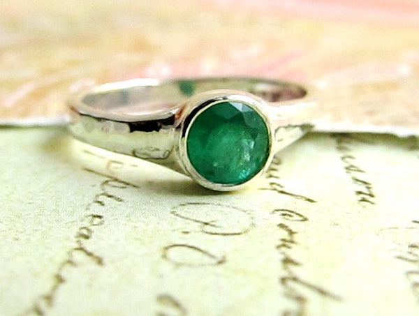 Custom Order for Edward, Emerald Ring 14k White Gold
