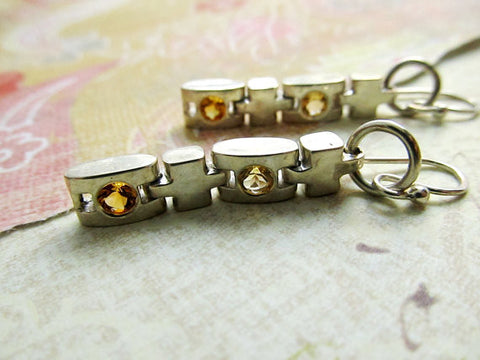 Industrial Citrine Earrings
