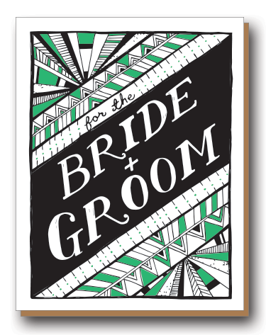 Bride + Groom Geometric Print