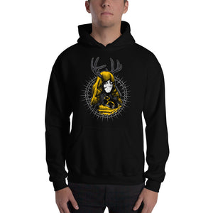 Queen in Yellow Hooded Sweatshirt