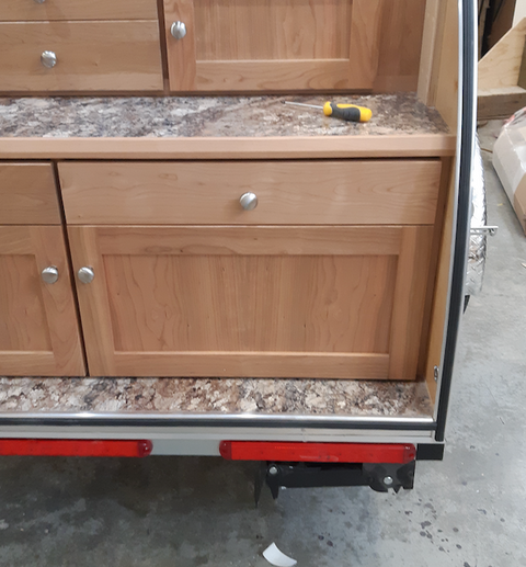 Stove Drawer with Solid Front