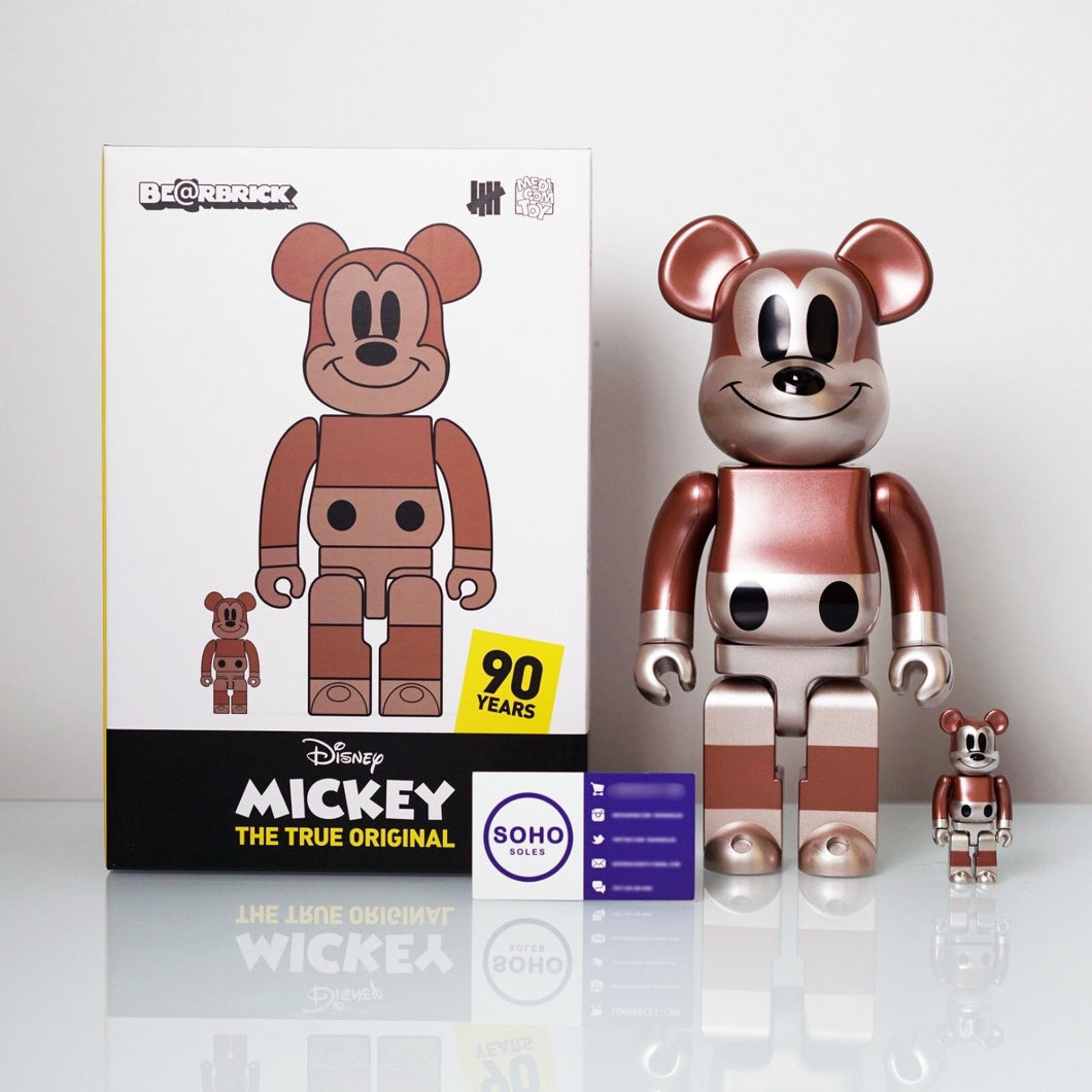 Undefeated x Disney Mickey Mouse x Medicom 100% & 400% Bearbrick