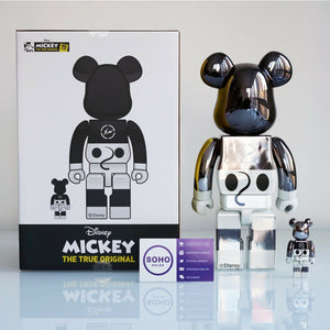 Fragment Design x Disney Mickey Mouse x Medicom 100% & 400% Bearbrick