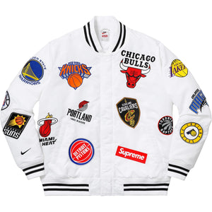 Supreme Nike/NBA Teams Warm-Up Jacket White