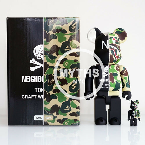 BAPE x Neighborhood x Medicom 100% & 400% Bearbrick