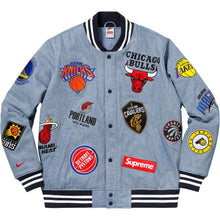 Load image into Gallery viewer, Supreme Nike/NBA Teams Warm-Up Jacket Denim