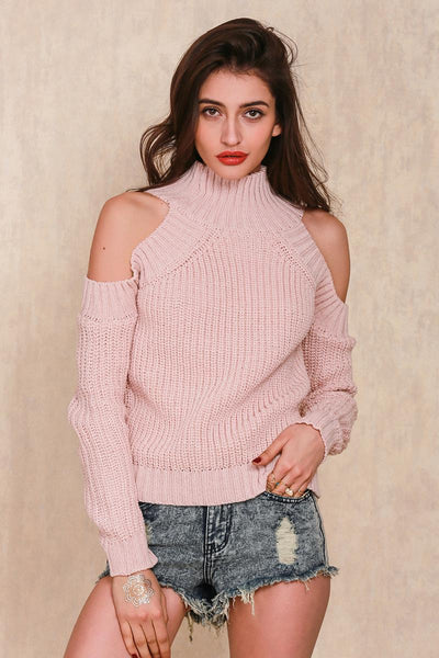 Buy Oversized Knitted Turtleneck Sweater