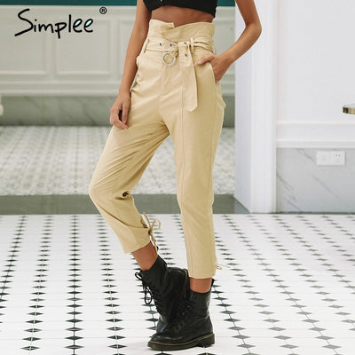 High Waist Casual Capri