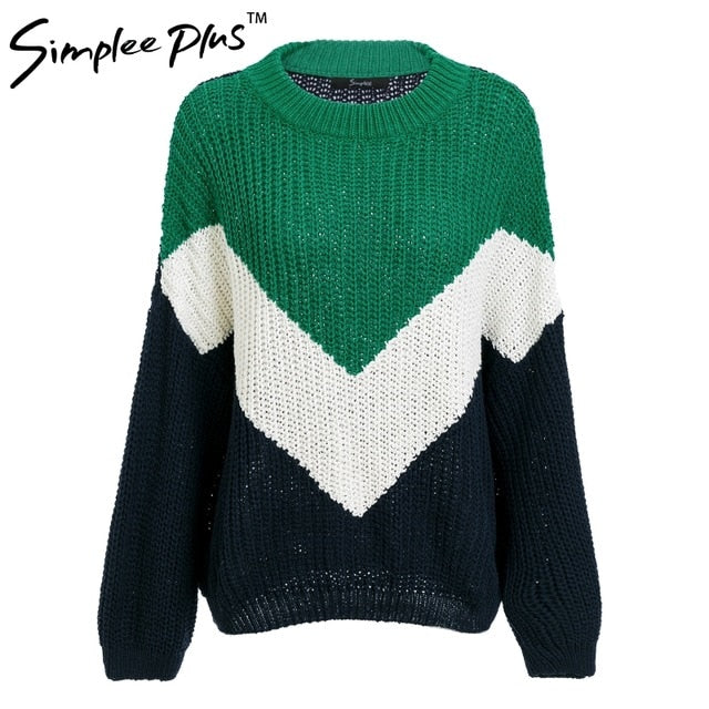 Simplee Plus O ncek knitting winter sweater female Batwing sleeve tricot pollover women 2018 fashion casual jumper pull femme