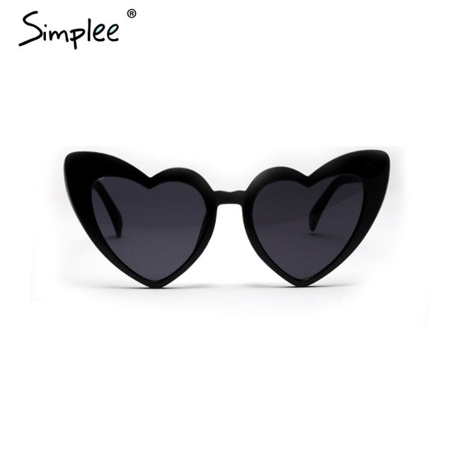 Simplee Sexy leopard print heart sunglasses women Vintage luxury brand sunglasses Trending female summer accessories sun glasses
