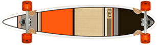 orange classic longboard