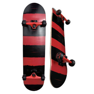 "31"" SDS Red Fat Stripe 7.5"" Skateboard - Longboards USA"