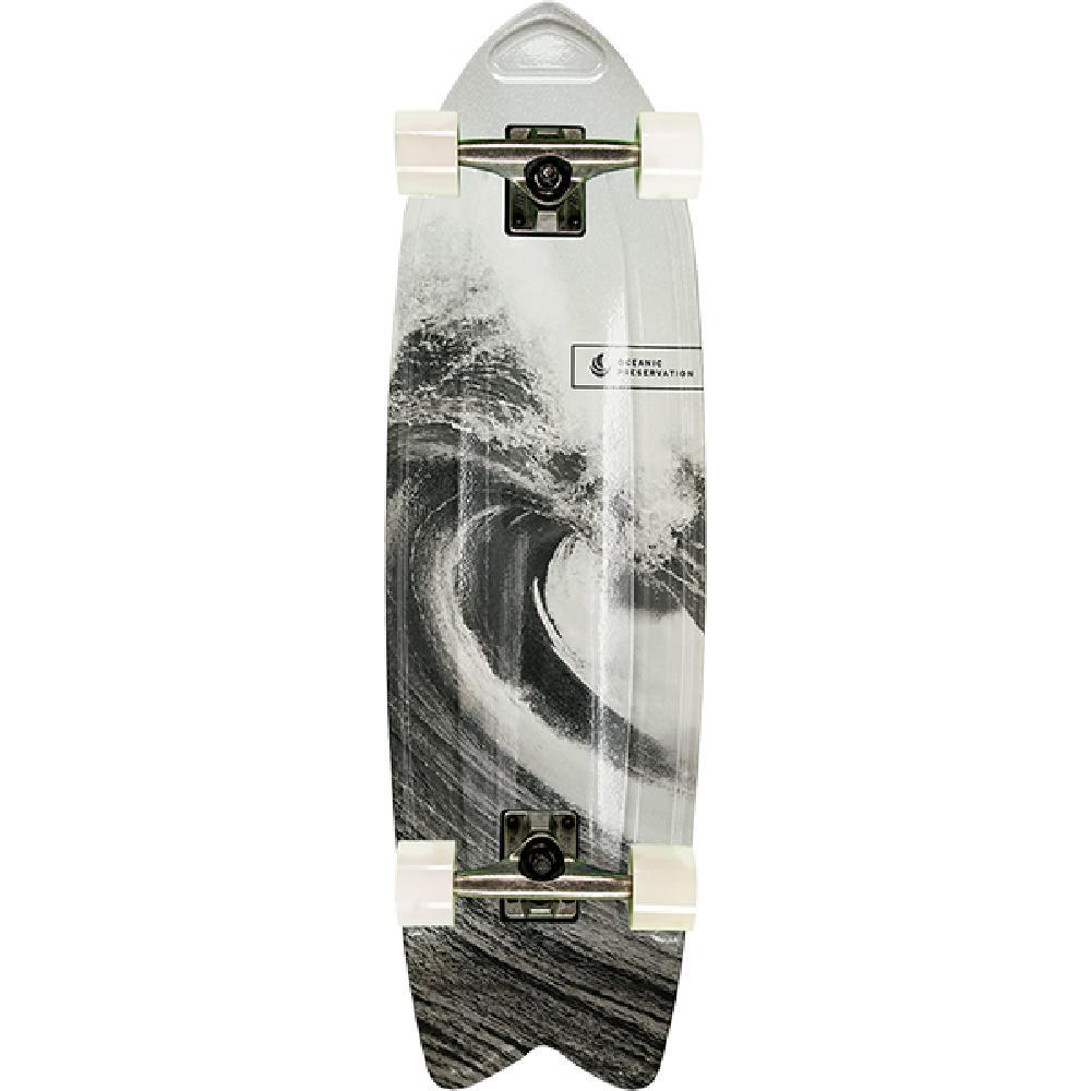 "Aluminati Oceanic Fishtail Cruiser 28"" Skateboard - Longboards USA"