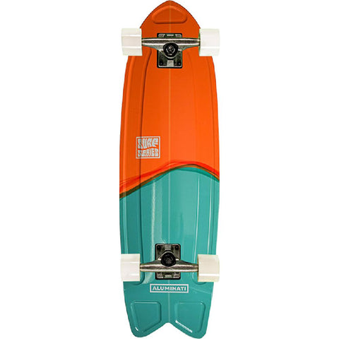 "Aluminati The Split Fish Tail 28"" Cruiser Complete - Longboards USA"
