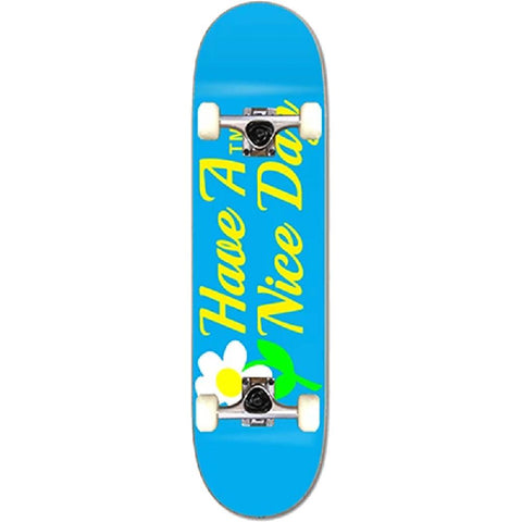 "ATM Nice Day Blue 8.0"" Skateboard Complete - Longboards USA"