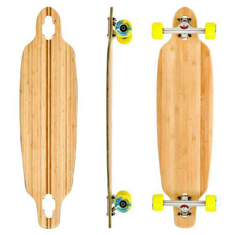 "Bamboo Blank Mini Directional Drop Through 33.5"" Longboard - Longboards USA"