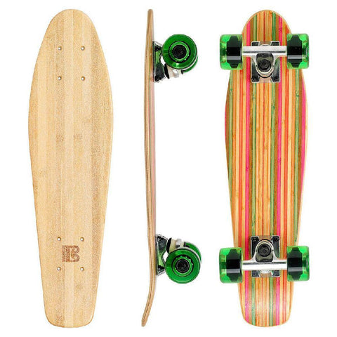"Bamboo Colorful 22.5"" Mini Cruiser - Longboards USA"