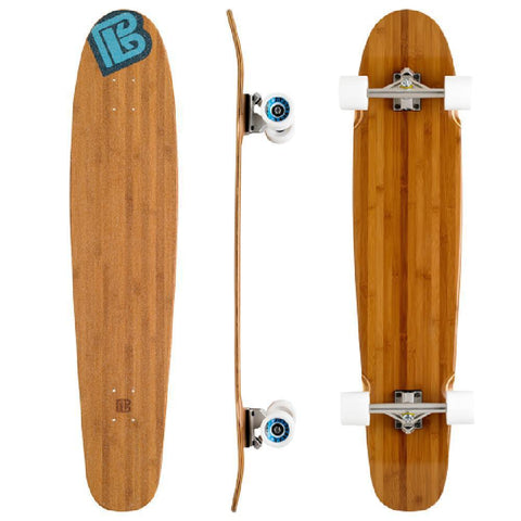 "Bamboo Double Kick Blank 42"" Kicktail Longboard - Longboards USA"