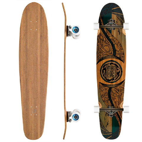 "Bamboo Double Kick Mirrored Sea 42"" Longboard - Longboards USA"