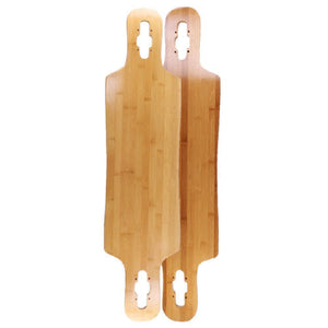 "Bamboo Drop Through Double Kick 39"" Longboard Deck - Longboards USA"