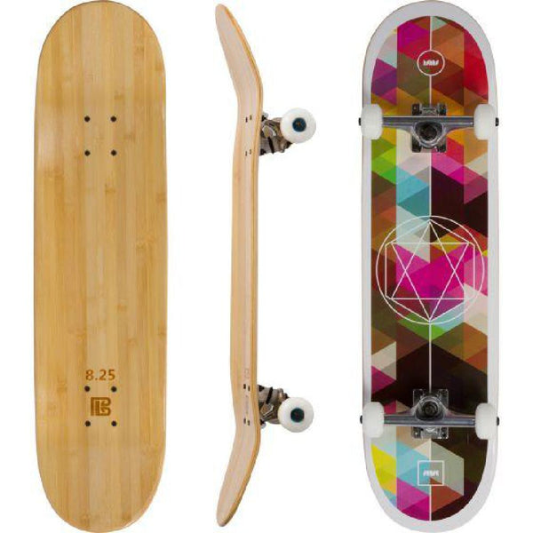 Bamboo Geometricity Graphic Skateboard - Longboards USA