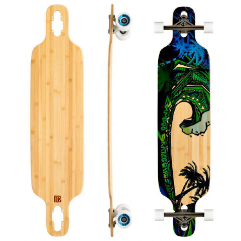 "Bamboo Green Giant Twin Tip Drop Through 40"" Longboard - Longboards USA"