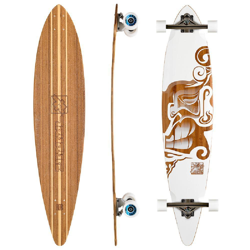 "Bamboo Hawaii Hook Trurute 44"" Pintail Longboard - Longboards USA"