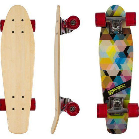 "Bamboo Kaleidoscope 22.5"" Mini Cruiser - Longboards USA"