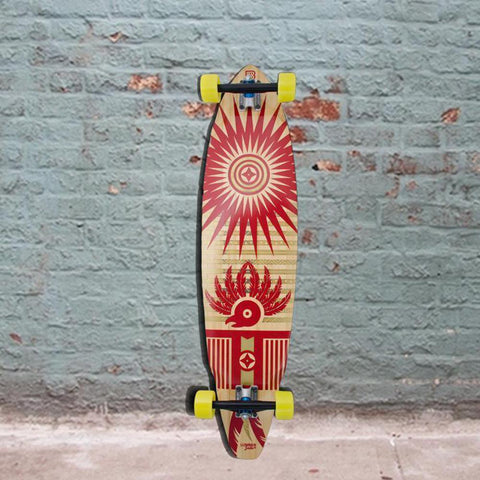 Bamboo Maya 38 Square Tail Quetzel Longboard (East) - Complete - Longboards USA
