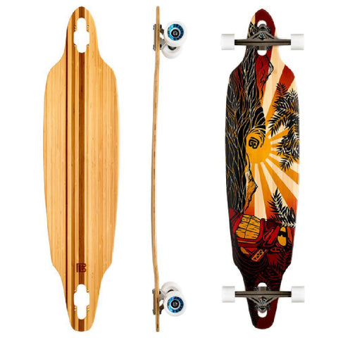 "Bamboo Pacific Sunset 41""Drop Through Longboard - Longboards USA"