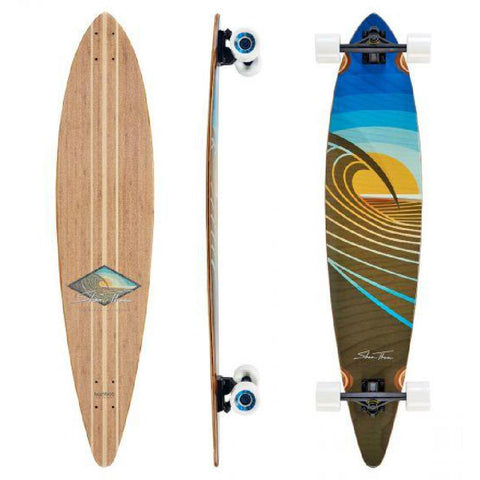 "Bamboo Pintail Sunset Peak 44"" Longboard - Longboards USA"