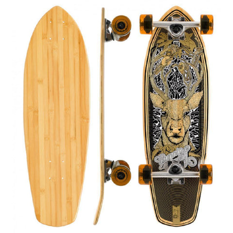 "Bamboo Running On Empty Blank 27"" Boardwalk Cruiser - Longboards USA"
