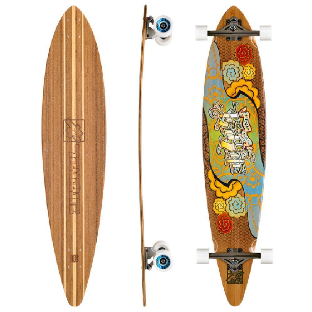 "Bamboo TR Ink Trurute Tattoo 44"" Pintail Longboard - Longboards USA"