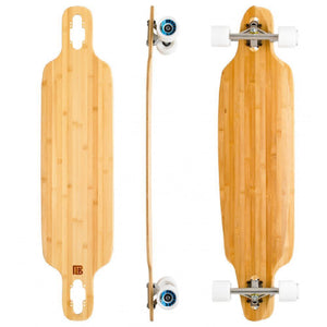 "Bamboo Twin Tip Drop Through 40"" Longboard - Longboards USA"