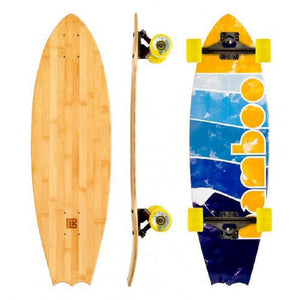 "Bat Tail Bamboo Lined Up 31"" Cruiser Longboard - Longboards USA"