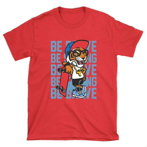 Be Brave Skateboard T-Shirt - Longboards USA