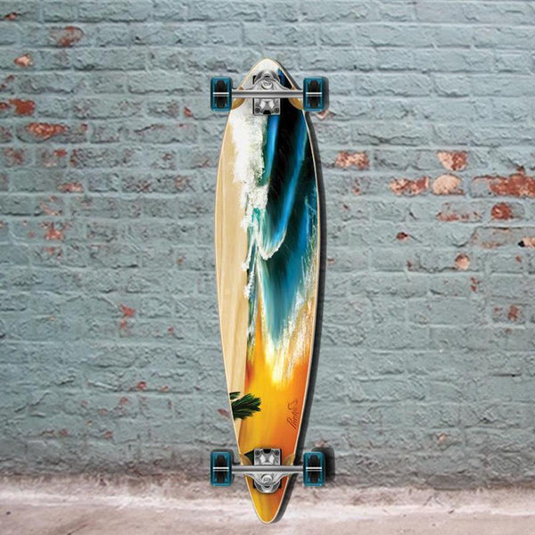 "Beach 40"" Pintail Longboard from Punked - Longboards USA"