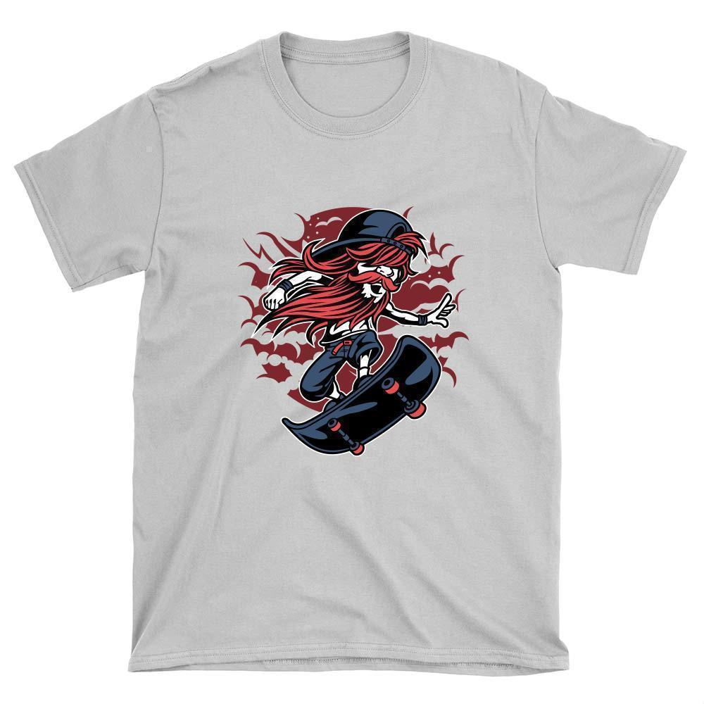 Bearded Skater T-Shirt - Longboards USA