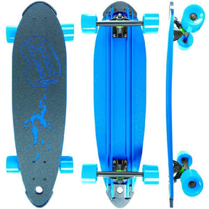 "Beercan Blue 30"" Pin Tail Longboard - Longboards USA"