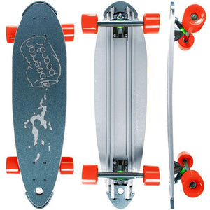 "Beercan Chrome 30"" Pin Tail Longboard - Longboards USA"