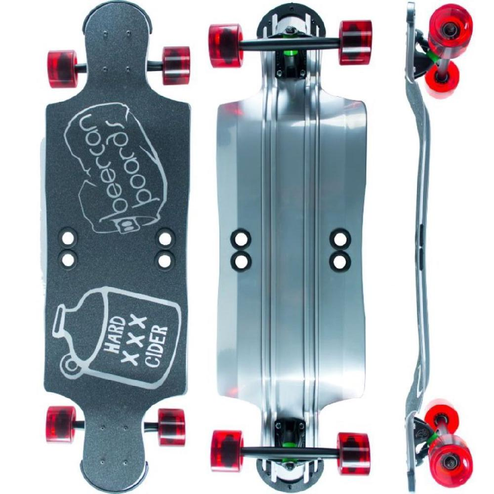 35 Hard Cider Complete Beercan Board Longboard with Beach Life Shell Design *FREE SHIPPING in USA*