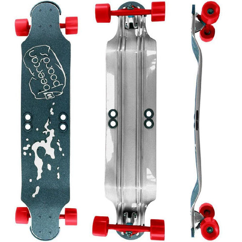 "Beercan Chrome 38"" Root Beer Longboard - Longboards USA"