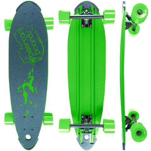 "Beercan Green 30"" Pin Tail Longboard - Longboards USA"