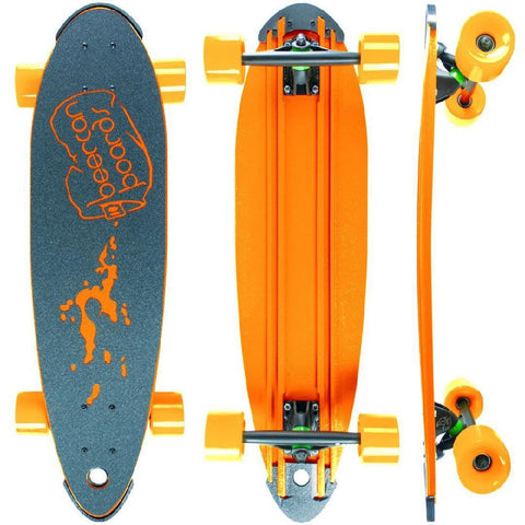 "Beercan Orange 30"" Pin Tail Longboard - Longboards USA"