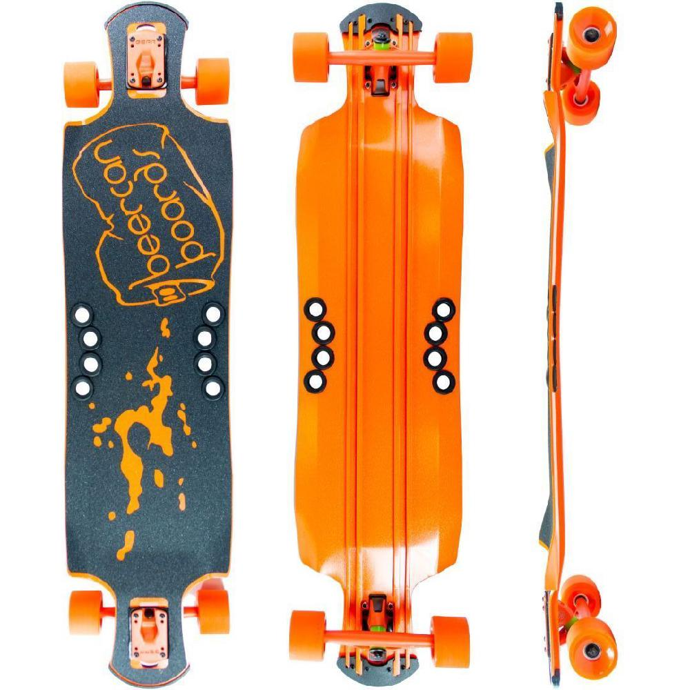 "Beercan Orange 42"" Oat Soda Drop Through Longboard - Longboards USA"